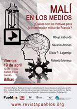 Bilbao, 19/04: Malí en los medios. ¿Cuáles son los motivos de la intervención militar de Francia?