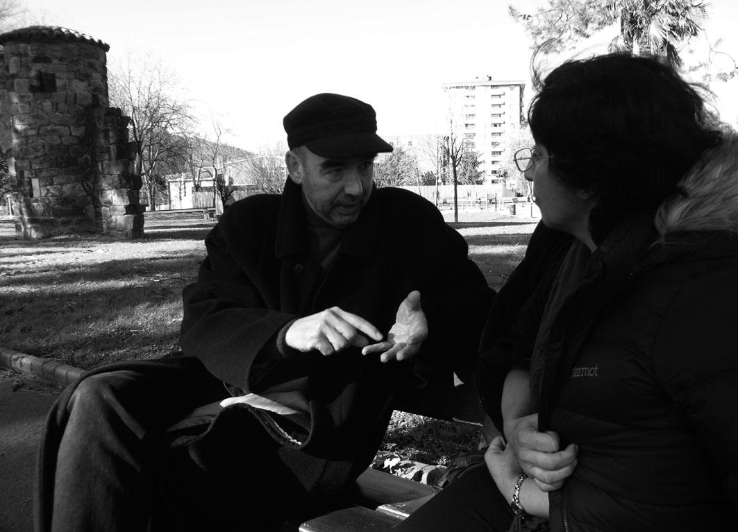 Santiago Alba Rico y Nazanin Armanian. Bilbao, 2014.