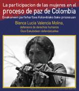 Laudio (Araba), 16/10: La participación de las mujeres en el proceso de paz de Colombia