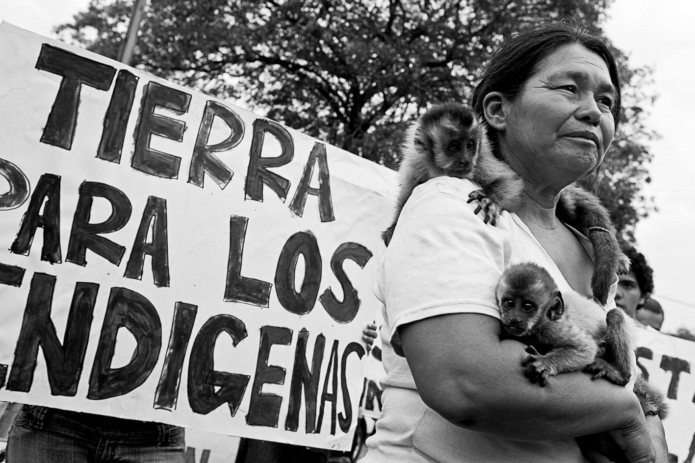 La población indígena paraguaya sigue reclamando sus tierras. La distribución del territorio es uno de los grandes problemas del país. (Jairo Marcos)