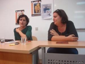 Silvia Pérez (izquierda) y Silvia de Gregorio (derecha). Fotografía: Enric Llopis.