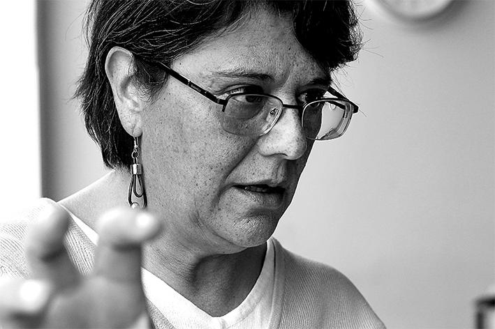 María Ximena Machicao Barbery, fotografiada en Donostia por Nora Arroita.