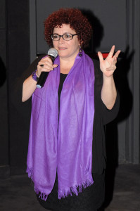 Marilyn Solaya durante la presentación de su película Vestido de Novia. Fotografía cedida por el Festival.
