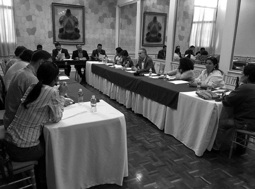"""Reunión de la Misión con diputados y diputadas de diversos partidos en el Congreso de Honduras. Fotografía: Misión """"Justicia para Berta Cáceres Flores""""."""