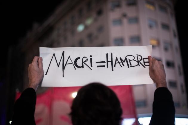 Protesta contra los tarifazos impuestos por el Gobierno del conservador Macri en Argentina. Fotografía: La Vaca.