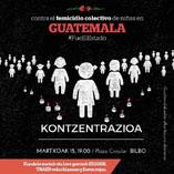 (Cast) Bilbo, 15 de marzo. Concentración contra el feminicidio colectivo de niñas en Guatemala